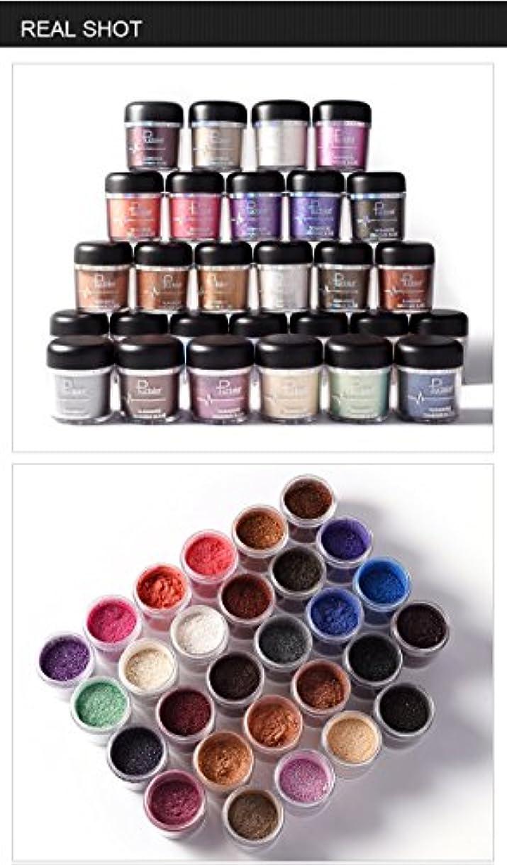 ずんぐりした意識的水分(#16) Glitter Powder Eyeshadow Single Metallic Color Pigments Eye Shadow Easy to Wear Waterproof Shimmer Cosmetics