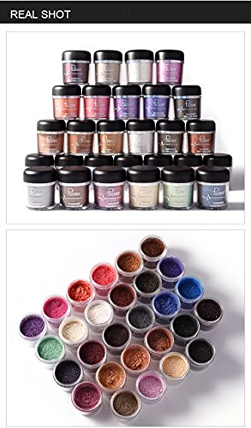 目覚める学部長山(#11) Glitter Powder Eyeshadow Single Metallic Color Pigments Eye Shadow Easy to Wear Waterproof Shimmer Cosmetics