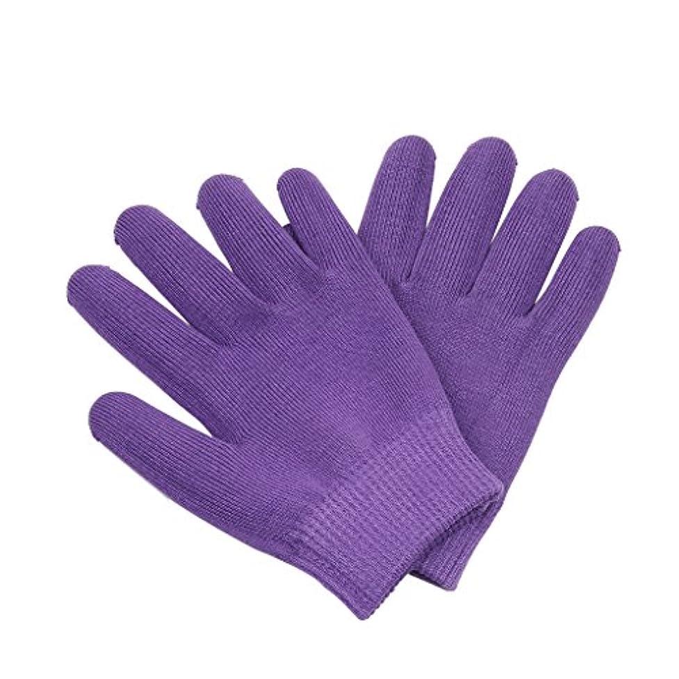 市長戻る生産性Lovoski 保湿手袋 おやすみ手袋 手袋 手湿疹 乾燥防止 手荒れ 保湿 スキンケア  メンズ レディース 全3色選べ - 紫