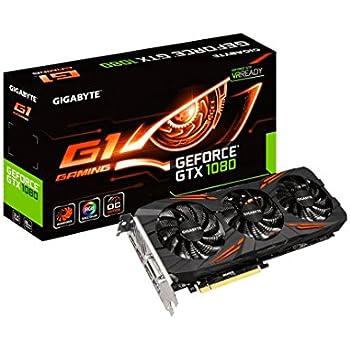 GIGABYTE ビデオカード NVIDIA GeForce GTX 1080搭載  オーバークロック ゲーミングモデル GV-N1080G1 GAMING-8GD