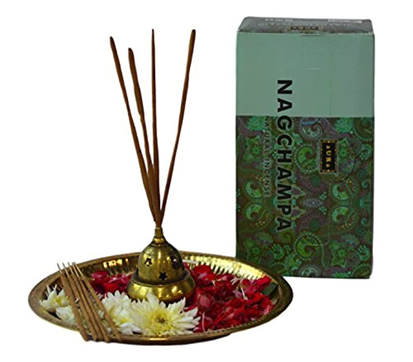 極地広々とした祖先Aura Premium Aromatherapy Natural Incense Sticks, Nag Champa Masala Incense Sticks (12 x 15gms),VALUE PACK-120...