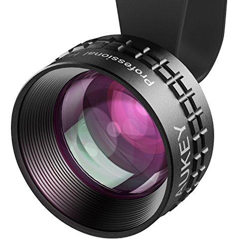 AUKEY スマホ 望遠レンズ カメラレンズ 2倍望遠 クリップ式 iPhone、Samsung、Sony、Androidスマートフォン、タプレットなどに対応 PL-BL01