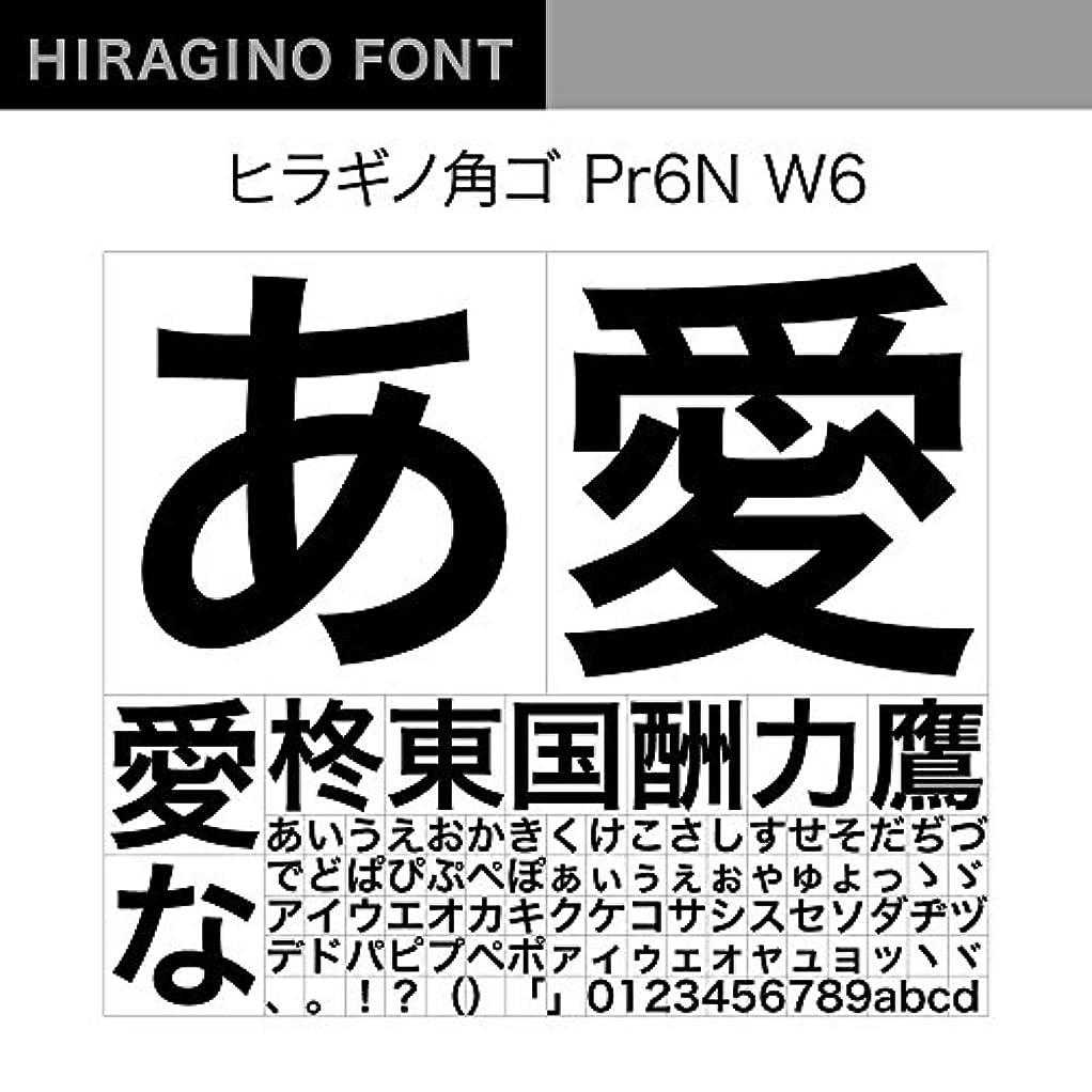OpenType ヒラギノ角ゴ Pr6N W6 [ダウンロード]