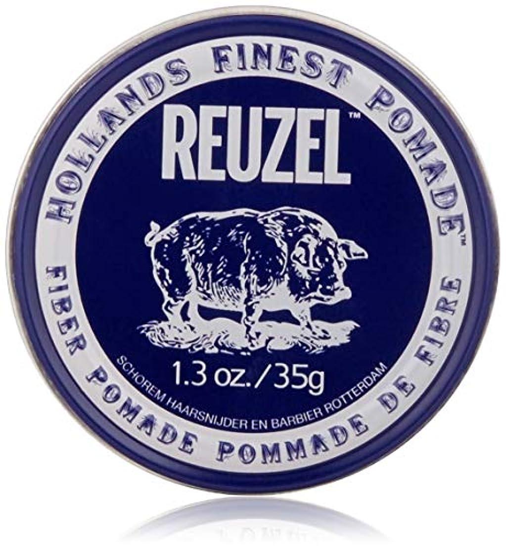 創始者時間とともに誰でもREUZEL INC Reuzelナチュラルフィニッシュ繊維ポマード、1.3オンス 1.3オンス 濃紺