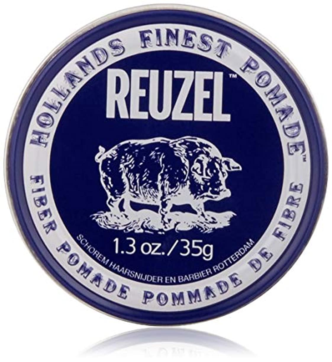 聖書自発現在REUZEL INC Reuzelナチュラルフィニッシュ繊維ポマード、1.3オンス 1.3オンス 濃紺