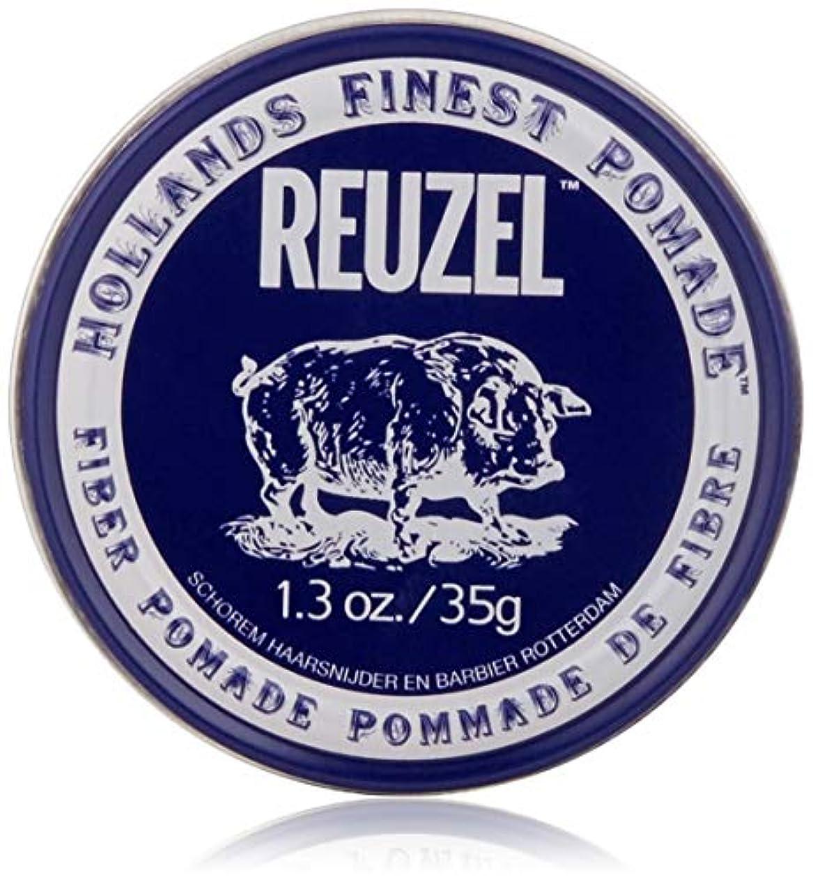 殉教者バックアップマカダムREUZEL INC Reuzelナチュラルフィニッシュ繊維ポマード、1.3オンス 1.3オンス 濃紺