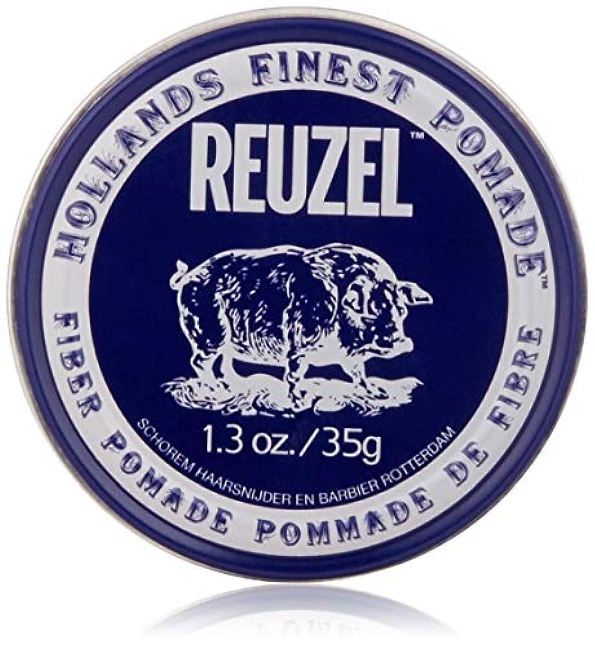 謙虚な流行しているふりをするREUZEL INC Reuzelナチュラルフィニッシュ繊維ポマード、1.3オンス 1.3オンス 濃紺