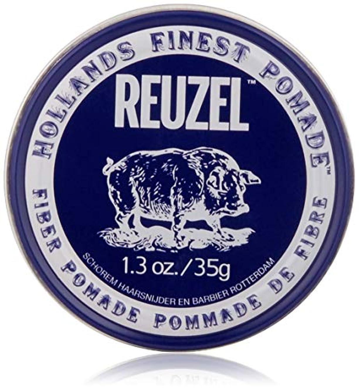 おかしい足枷見つけたREUZEL INC Reuzelナチュラルフィニッシュ繊維ポマード、1.3オンス 1.3オンス 濃紺
