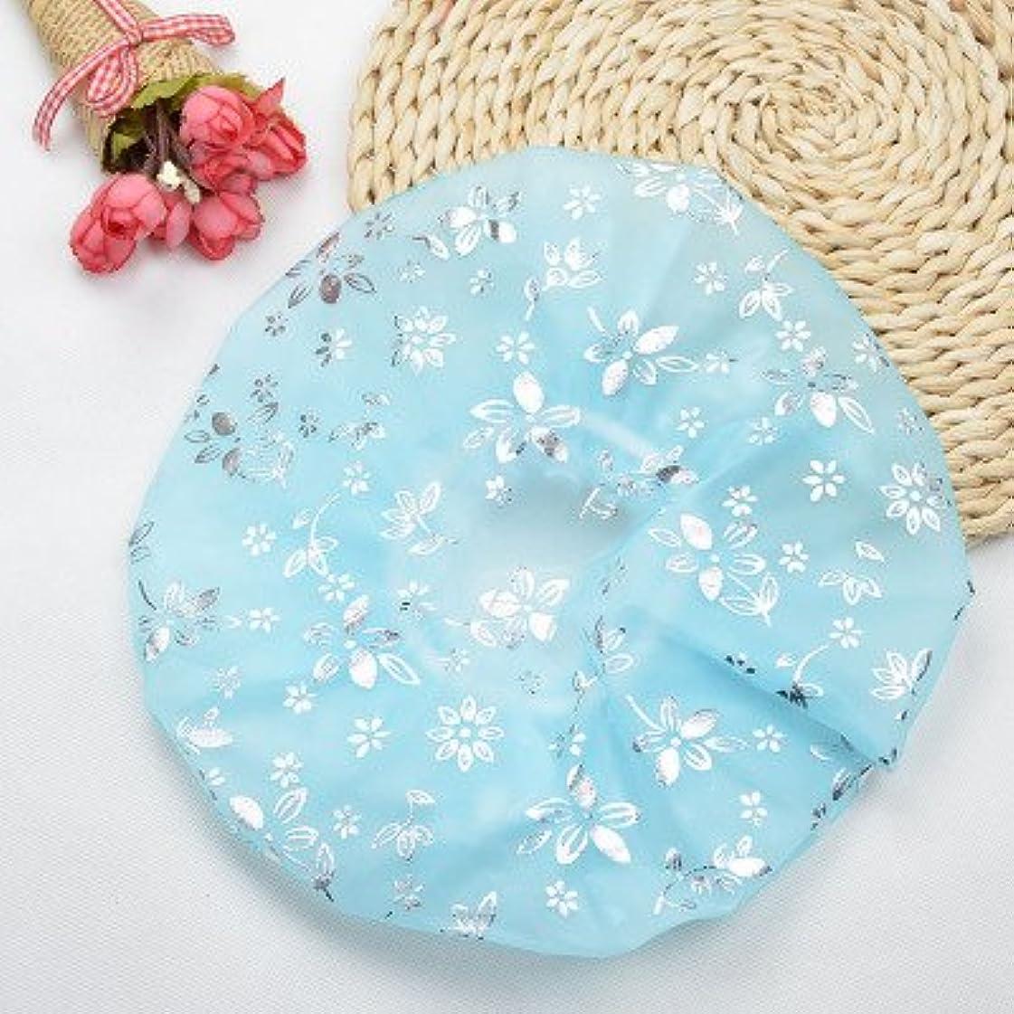 リングレット成熟した指Maltose 化粧帽 ダブル防水シャワーキャップ 油煙を防ぐ ふわふわ柔軟 色落ちしない 2枚セット