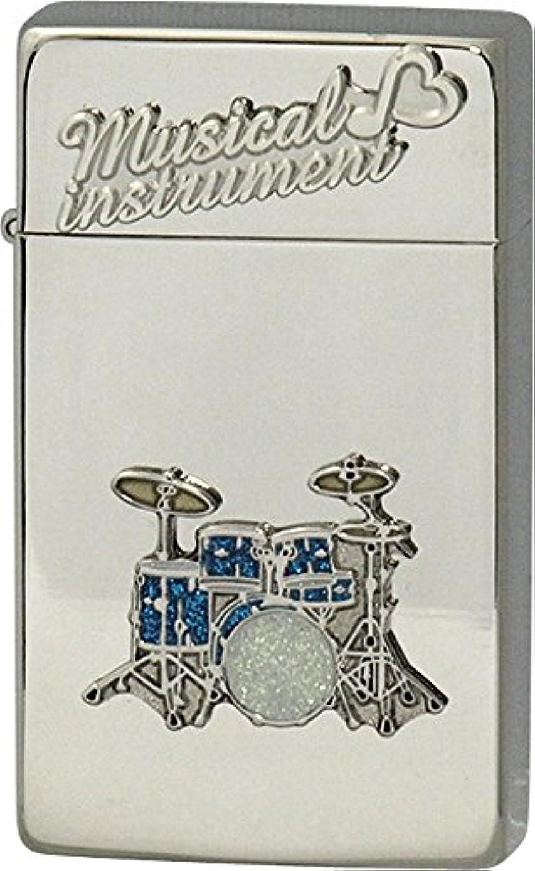 壊滅的なチャート塩辛いSAROME(サロメ) ガス ライター SRM 楽器 シリーズ ドラム シルバー 700070