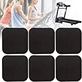 Erthree 6Pcs Treadmill Shock Absorbing Mat,Home Anti-Vibrasion Sound Insulation Thickened Floor Pad for Treadmill