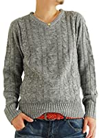 (アーケード) ARCADE 10color メンズ ニット セーター Vネック ケーブル編み ニットセーター 秋 冬 S M L XL(LL)