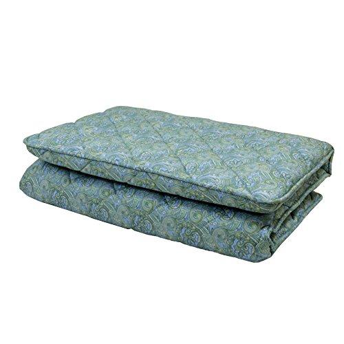 東京西川 敷き布団 シングル 羊毛混 中芯しっかり3層構造 ブルー KNO0502902B