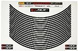 エムディーエフ(MDF) リムストライプ ソリッドタイプ ブラック 【MDF 文字有り】 6mm幅 17インチ RIM-6M-BK-17