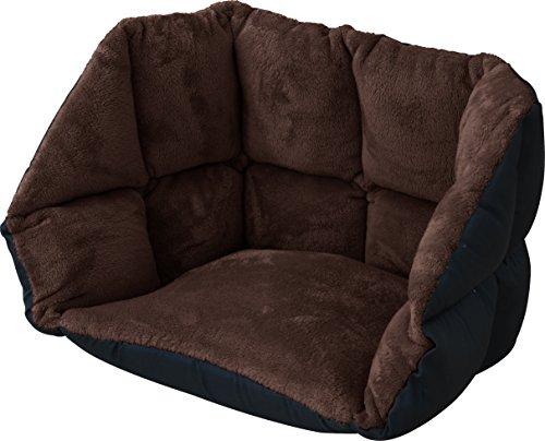 ottostyle.jp 背もたれ付き低反発ぬくもりクッション あったか座椅子 (ブラウン) マイクロファイバー素材