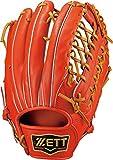 ZETT(ゼット) 野球 軟式 グラブ (グローブ) プロステイタス 外野手 左投用 ディープオレンジ×オークブラウン(5836) RH BRGB30817