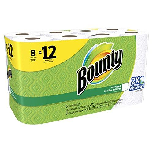 Bounty (バウンティ) ペーパータオル キッチンホワイト 8ロール(60カット)