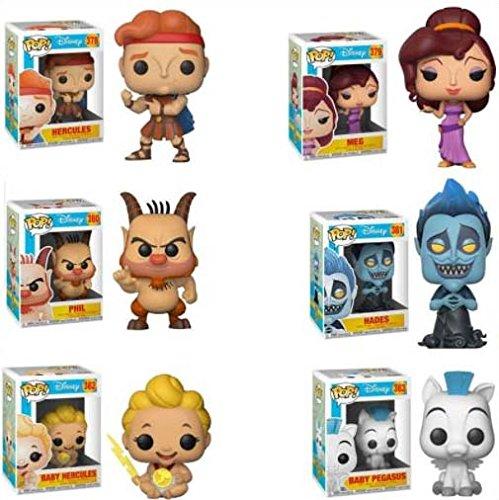Funko POP 。ディズニーHerculesセットof 6: Herculesヘラクレス、ベビー、赤ちゃんPegasus、メグ、Phil、and Hades