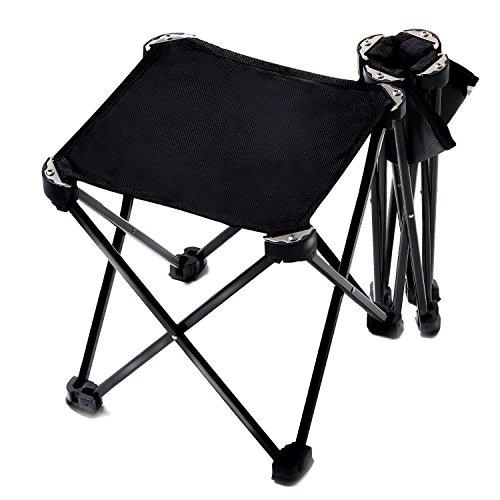 CASIDA アウトドアチェア 折りたたみチェア 折りたたみ 椅子 コンパクト キャンプ用 組み立て椅子 軽量 な ジュラルミン 製 収納バッグ付き 耐荷重80kg (1. ブラック1個)