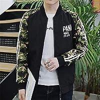 ジャンパー ブルゾン ジャンパ コート ジャケット 上着 服 メンズ 男性 おどこ 若者 快適 モノグラム ファッション 風合い プリント オールシーズン 秋 冬 長袖 ポリエステル サイズ選択可 (Color : 1, Size : M)