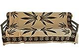 インド綿 マルチカバー 長方形 プレーンヘンプ 150×225cm ベージュ