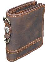 ARCADE(アーケード) 3color 二つ折り財布/メンズ/コンチョ付本革レザーウォレット