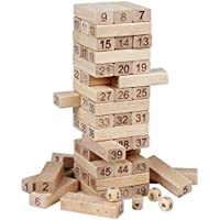 yandoha木製ビルディングブロックセット子供教育数学玩具ボードgames-54 Pieces