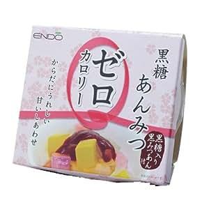 遠藤製餡 ゼロカロリー黒糖あんみつ 170g×6個