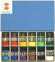 ターナー色彩 ポスターカラー 12色セット PC04012C 40ml(9号)