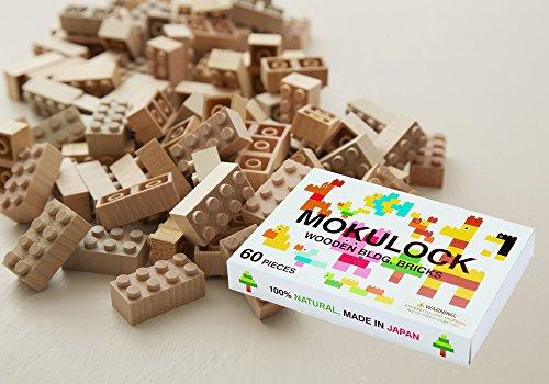 木を削り出して作られたブロックMOKULOCK(モクロック)もくロック 60ピースセット KODOMO