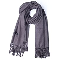 Cashmere Winter Scarf, Thick Warm Wrap Shawl for Mens (200 * 70, Dark Gray)