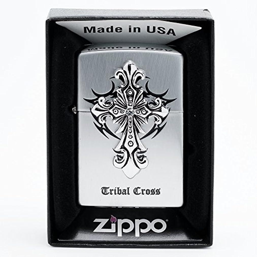 もちろんつかいます樹木ZippoTribal Cross Sl Lighter ライター / 正真正銘の本物 / オリジナルパッキング(6フリントセット フリーギフト) [並行輸入品]