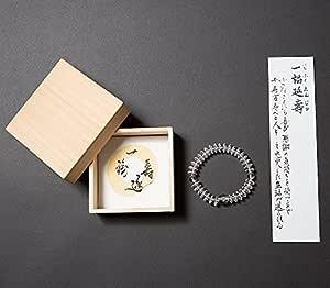 (喜芳工房) 不動明王 ( カーン ) 梵字 念珠 ( 数珠 ) ブレスレット 本水晶 木箱付 ◆ 内周約15.5cm パワーストーン 天然石 お守り (女性用)