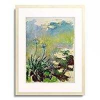 クロード・モネ Claude Monet 「Les Agapanthes」 額装アート作品