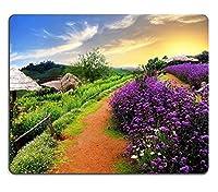 マウスパッドゲーミングマウスパッド花と山の美しい風景PN00X4307