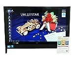 NEC デスクトップパソコン Windows7 中古パソコン デスクトップ 一体型 本体 Kingsoft Office付き Core 2 Duo ブルーレイ 地デジ 4GB/1TB VN770/V ブラック