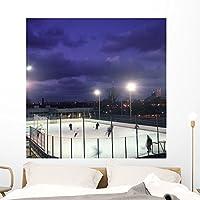 Wallmonkeys Ice Hockey Wall Mural by Peel and Stick Graphic (48 in H x 48 in W) WM159169 [並行輸入品]