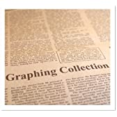 GIFT 英字新聞風 プリント クラフト紙/包装紙 お花やプレゼント,ギフト商品のラッピングに! 77cm×54cm (Brown)