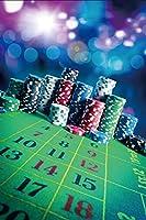 Yeele 4x5フィート カジノ ベッティング バックドロップ ギャンブルゲーム 宝物 幸運のチップ レンズフレア 背景 写真 ラスベガス トラベル ギャンブラー 大人用 ポートレート 写真撮影 ビニールスタジオ小道具