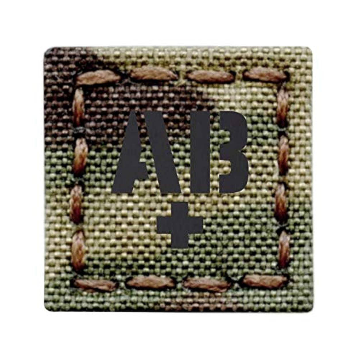 体モール近代化マイクロパッチ 1x1 IR ABPOS AB+ マルチカムブラッドタイプ タクティカル モラール