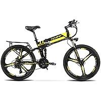 XF700電動アシスト自転車 CYRUSHER 折りたたみ マウンテンバイク 36V*10.4AH 荷台 公道走行と防犯登録可能