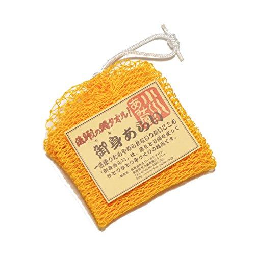 漁師さんの網タオル 御身あらい(ゴールド)