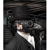 レザー製 ペストマスク スチームパンク Plague Doctor mask