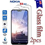 """[2-Pack] Nokia X6 (5.8"""" inch) Tempered Glass LCD Screen Protector Film Guard"""