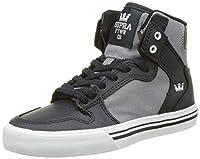 [Supra] Children (Youths) Vaider Dk. Grey Grey White Skate Shoes