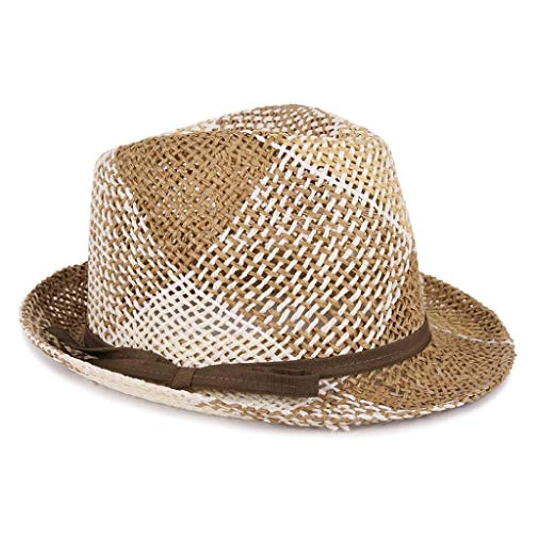 窓ラウンジラベンダー日よけ帽 日曜日の帽子の人および女性イギリスの帽子の春および夏の屋外の日焼け止めのバイザーのカウボーイハット55-57cm ZHAOSHUNLI (Color : Beige)