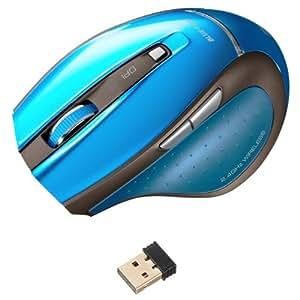 サンワサプライ ワイヤレスマウス 超小型レシーバーLED ブルー ブルーMA-NANOH11BL