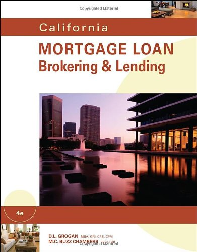 Download California Mortgage Loan Brokering & Lending 0538739592