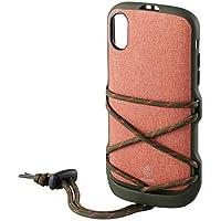 エレコム iPhone XR ケース アウトドア NESTOUT ハイブリッドケース FES 【背面コードが便利で、かわいい】 オレンジ PM-A18CHVODFDR