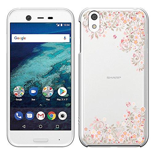Android One X1 ケース Y!mobile アンドロイド ワン X1 カバー SIMフリー ハードケース スマホケース ポリカーボネイト 液晶保護フィルム付 全機種対応 透明(PINK) 「Breeze」